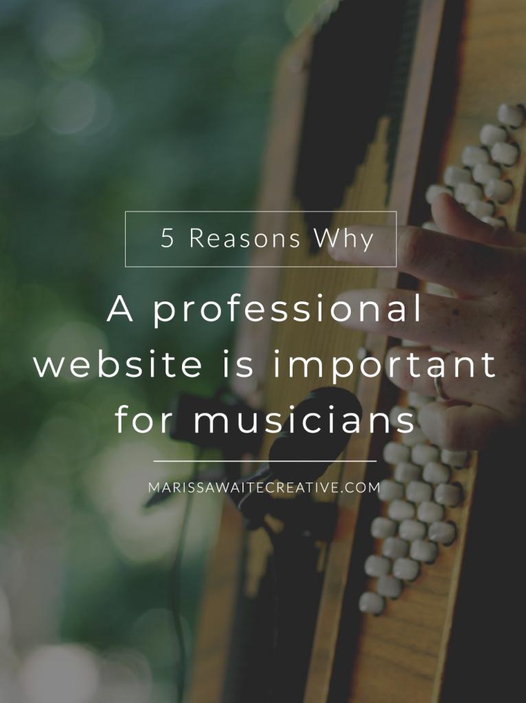 web design, websites for musicians, marissa waite creative,